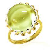 Кольцо с крупным Цитрином
