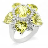 Кольцо лимонным Цитрином