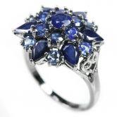 Крупное кольцо с Сапфирами