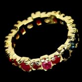 Кольцо с Сапфирами, Рубинами