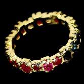Кольцо с Рубинами и Сапфирами