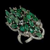 Невероятное кольцо с Изумрудами