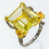 Кольцо с Лимонным Кварцем 19 мм