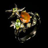 Кольцо с апельсиновым Опалом
