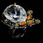 Кольцо с роскошным прозрачным Кварцем