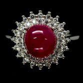 Кольцо с Рубином 7 мм (в комплекте)