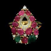 Кольцо с  Изумрудами и Рубинами. (при покупке комплекта)