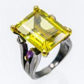 Кольцо с лимонным Кварцем 18 мм