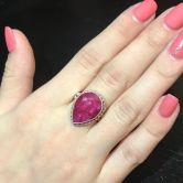 Кольцо с Рубином 18 мм