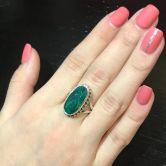Кольцо с Изумрудом 18 мм