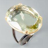 Кольцо с зеленым Аметистом 24 мм